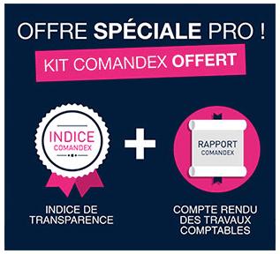 Offre spéciale pro : kit Comandex offert