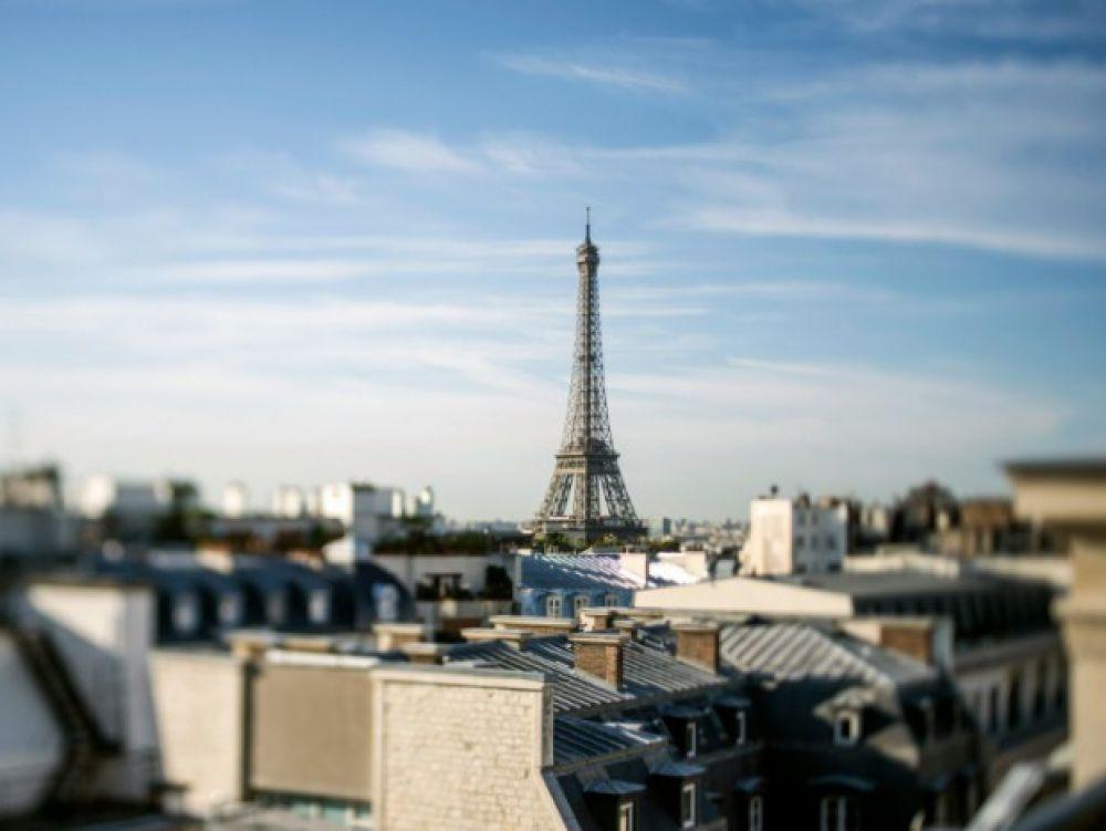 vue des toits de paris et de la tour eiffel